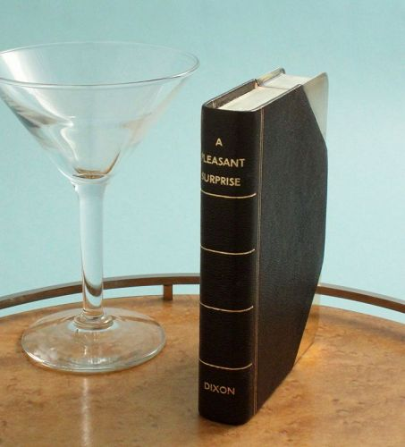 Book Form Whisky Flask