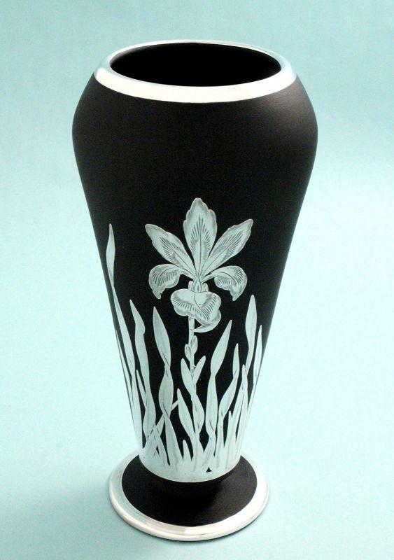 Tiffin Silver Overlay Vase