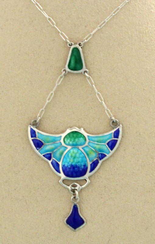 Charles Horner Art Nouveau Enamel Pendant