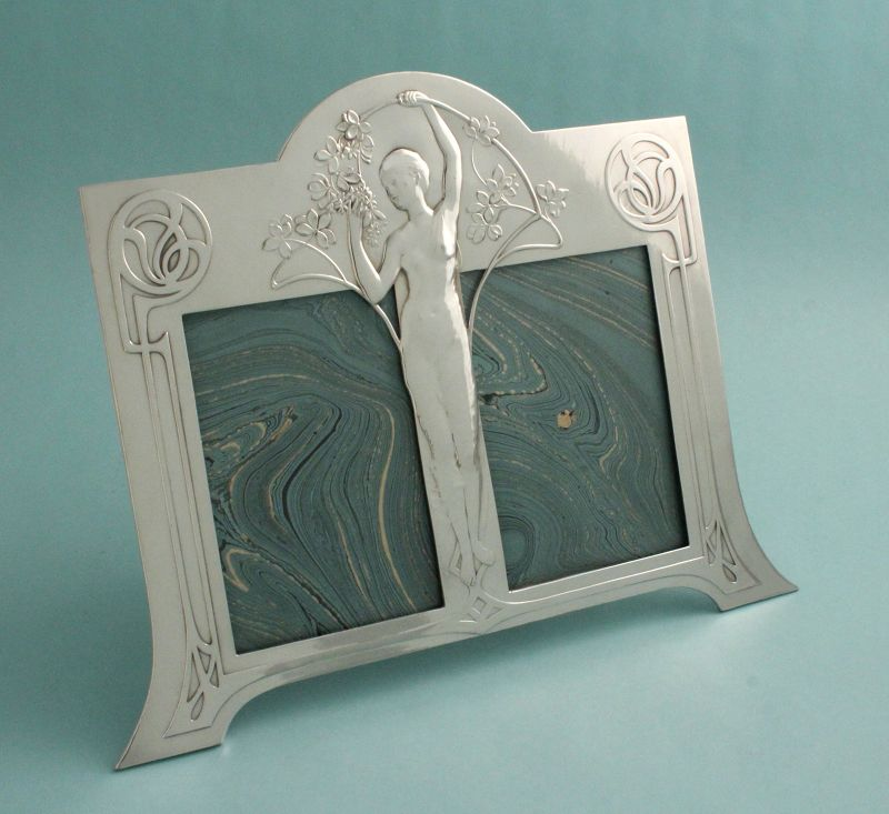 WMF Art Nouveau Maiden Double Photo Frame