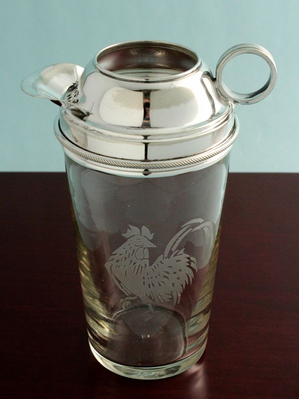 Etched Rooster Cocktail Mixer