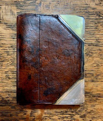 Fine Leather Bound Book Flask