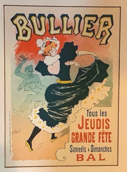 """Georges Meunier, """"Bullier"""", 1898 Original Maitre de l'Affiche Poster"""