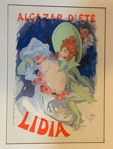 """Jules Cheret, """"Lidia"""", 1896 Original Maitre de l'Affiche Poster"""