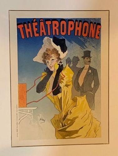 """Jules Cheret, """"Theatrophone"""", 1896 Original Maitre de l'Affiche Poster"""