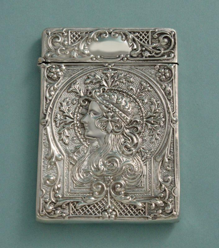 Art Nouveau Silver Card Case