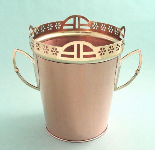 Copper and Brass Secession Wine Cooler