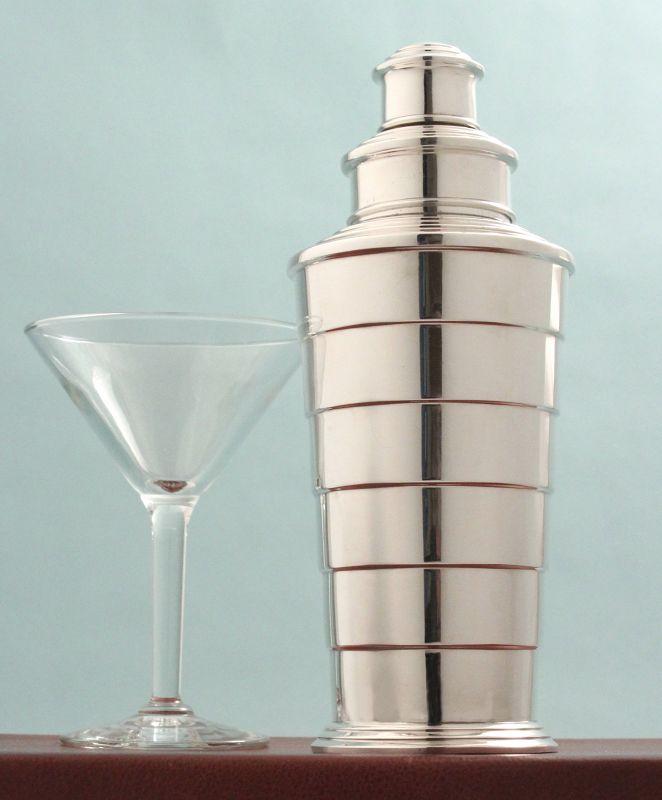 Art Deco Stepped Cocktail Shaker