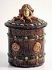 Art Nouveau Pottery Humidor