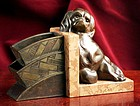 Art Deco Bronze King Charles Spaniel