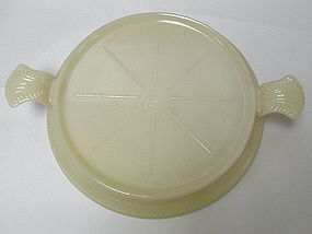 Ivory Oven Glass Fire King Hot Plate Trivet Server