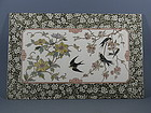 Large Porcelain Tile Wall Plaque with Swallows Birds
