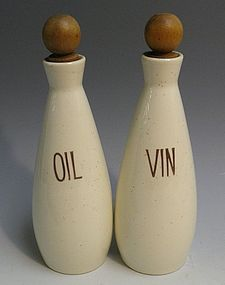California Pottery Vernon Kilns Oil and Vin Set