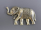 Marcasite Sterling Silver Elephant Pin Pendant