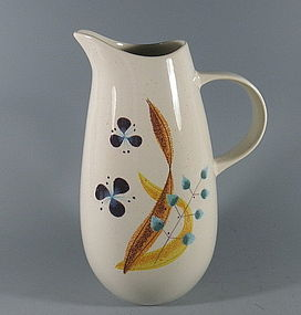 Large California Vernonware Kilns Frolic Pitcher