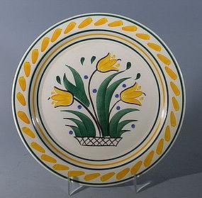 RARE Gale Turnbull Tulips Plate, Vernon Kilns Pottery