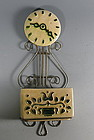 VERY RARE California Artware Metlox Lyre Clock Planter