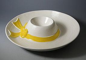 Rare Metlox Lady's Bonnet Chip N Dip Yellow Ribbon