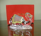 Gorham Crystal Camel Statue Figurine with Gold Accents
