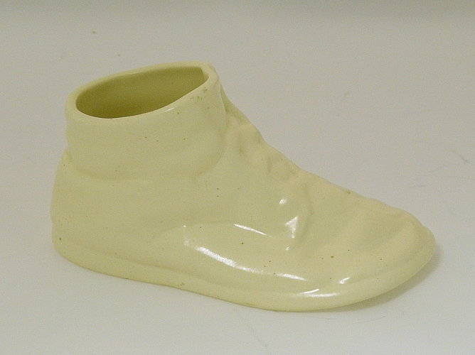 Vintage Metlox Baby Shoe Off White Planter
