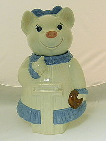 Metlox Slenderella Pig Cookie Jar California Pottery