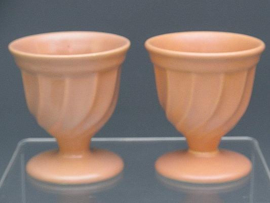 Pr California Pottery Metlox Peach Yorkshire Sherbert