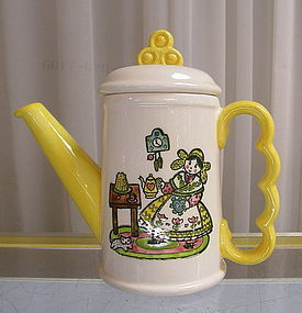 Metlox Happy Time Mug with Spout and Lid Coffee Pot