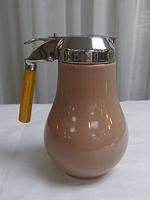 Vernonware California Tan Syrup Dispenser Pitcher