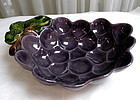 Large Metlox California Vintage Purple Grape Bowl