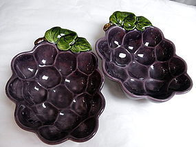 Pair California Metlox Poppytrail Purple Grape Bowls