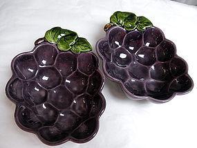 Pair California Metlox Poppytrail Purple Grape Bowls