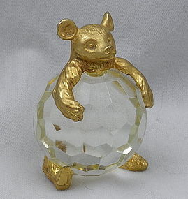 24 K Gold Crystal Ball Teddy Bear by Menagerie Italy