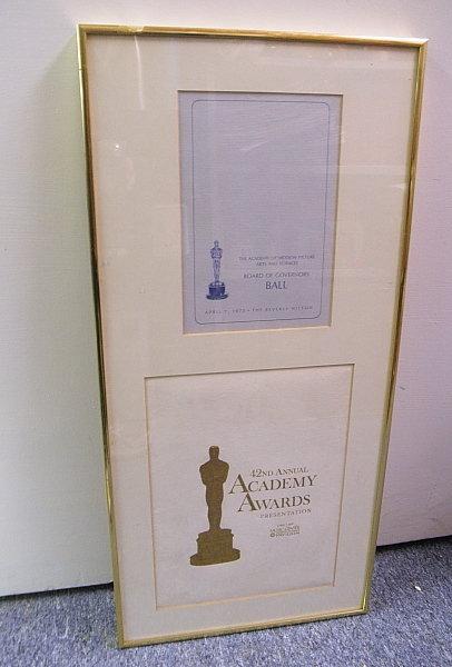 42nd Academy Awards Program Govenors Ball 1970