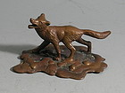 Vintage Bronze Fox Figurine by Tiffany Studios