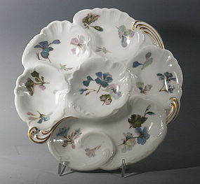 French Limoges Haviland Porcelain Oyster Plate Dark