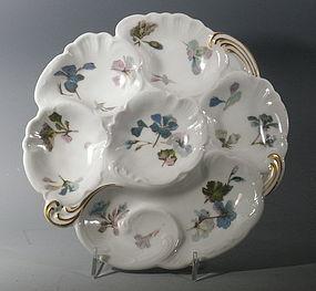 French Limoges Haviland Porcelain Oyster Plate Dark