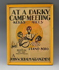 Black American Sheet Music At A Darky Camp Meeting
