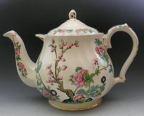 Huge Indian Tree English Display Buffet Teapot Sadler