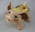 Small California Pottery Vintage Kay Finch Happy Pig