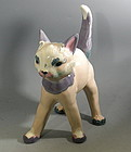 Rare Large Kay Finch Standing Cat California Pottery Mid Century