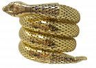 Whiting Davis Gold Cleopatra Serpent 3 Coil Snake Bracelet