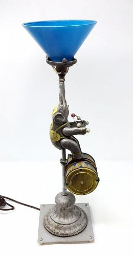 Old Tin Elephant Toy Lamp by Matthew Lee Gotwols