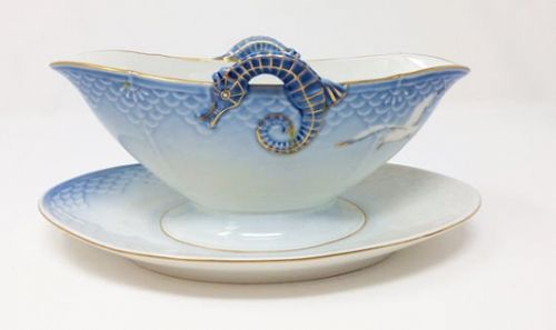 Bing & Grondahl Seagull China Gravy Boat with Seahorse Handles