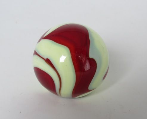 Vintage Akro Red Swirl Slag Glass Gear Shift Knob