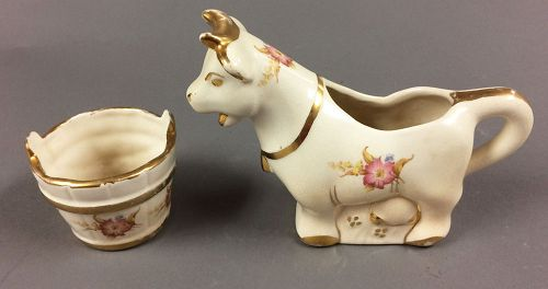 1930�s Milk Cow Creamer and Sugar Set