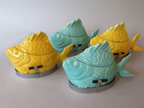 Chicken of the Sea 1940s Tuna Baker - Salad Servers California Pottery