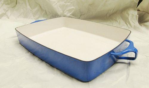 Dansk Kobenstyle Blue Enamel Lasagna Baking Casserole Dish.