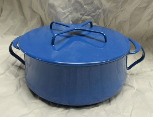 Dansk Blue Enamel Dutch Oven Cassarole Kobenstyle Pot With Lid, France