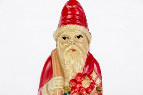Vintage 1930's Celluloid Santa Clause Christmas Rattle