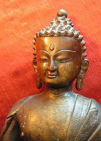 Seated Nepalese Bronze Buddha